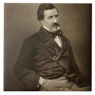 "Julio Francois Felix Husson, ""Champfleury"" (1821-8 Azulejo Cuadrado Grande"