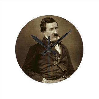"Julio Francois Felix Husson, ""Champfleury"" (1821-8 Reloj De Pared"