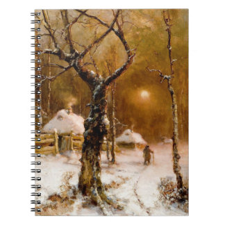Julio Klever: Paseo de la noche del invierno Spiral Notebooks