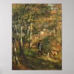 Julio Le Coeur en el bosque de Fontainebleau Poster