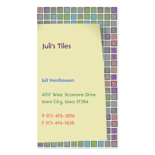 Juli s Tiles Business Cards