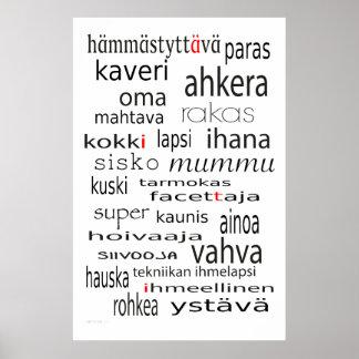 Juliste de Aiti - madre en poster finlandés