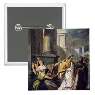 Julius Caesar  on his way to the Senate Button