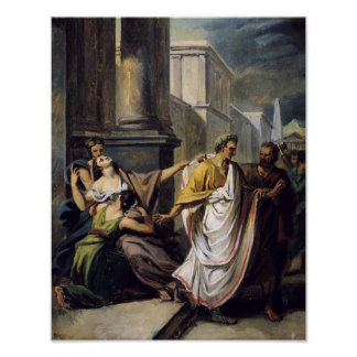 Julius Caesar  on his way to the Senate Print