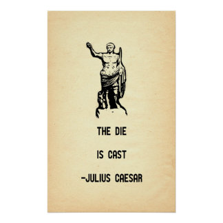 Julius Caesar Quote The Die Is Cast Poster