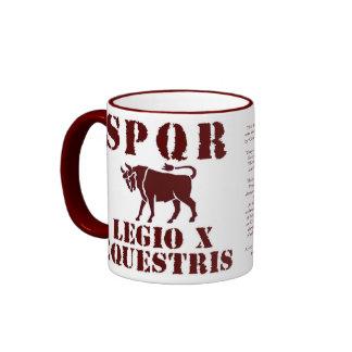 Julius Caesar's Famed 10th Roman Legion Bull Mug