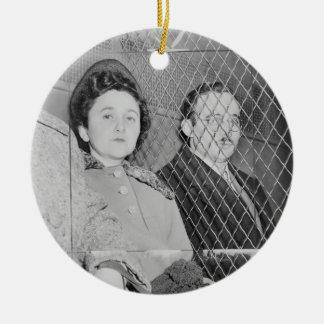 Julius & Ethel Rosenberg After Being Found Guilty Ceramic Ornament