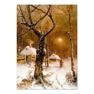 Julius Klever: Winter Night Walk Card