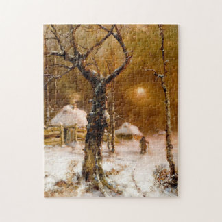 Julius Klever: Winter Night Walk Jigsaw Puzzle