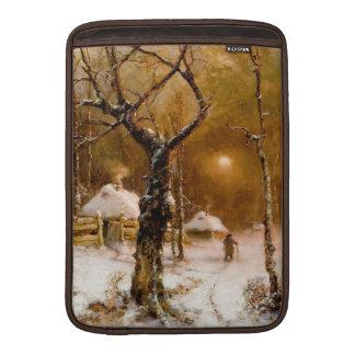 Julius Klever: Winter Night Walk MacBook Air Sleeve