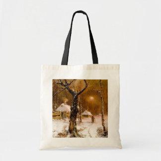 Julius Klever: Winter Night Walk Tote Bag