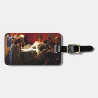 Julius LeBlanc Stewart- A Supper Party Travel Bag Tag