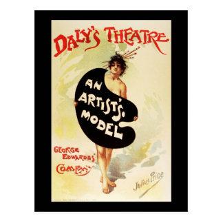 Julius Price Daly's Theatre An Artist's Model Postcard