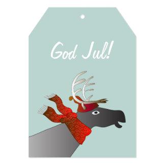 Julkort med ren card