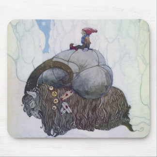 Jullbocken The Yule Goat Being Ridden By A Child Mouse Pad
