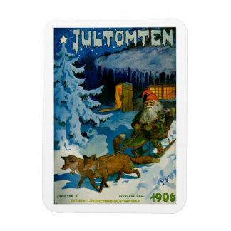 Jultomten 1906 - Swedish Magazine Cover Art Magnet