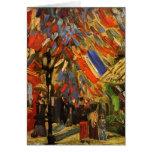 July 14th Celebration in Paris Van Gogh Fine Art Card