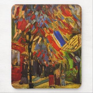 July 14th Celebration in Paris Van Gogh Fine Art Mouse Pad