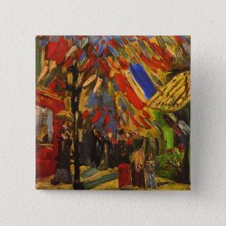 July 14th Celebration in Paris Van Gogh Fine Art Pinback Button