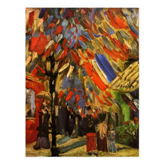 July 14th Celebration in Paris Van Gogh Fine Art Postcard