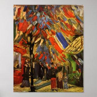July 14th Celebration in Paris Van Gogh Fine Art Poster