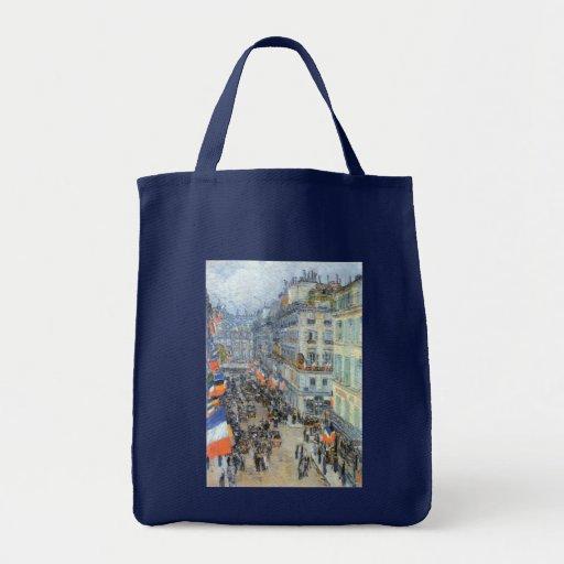July 14th, Rue Daunou by Hassam, Vintage Fine Art Tote Bag