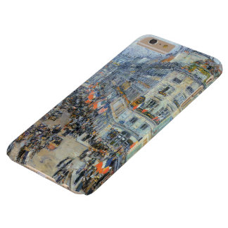 July 14th, Rue Daunou by Hassam, Vintage Fine Art Barely There iPhone 6 Plus Case