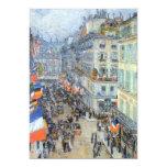"July 14th, Rue Daunou by Hassam, Vintage Fine Art 5"" X 7"" Invitation Card"