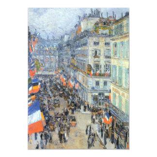 July 14th, Rue Daunou by Hassam, Vintage Fine Art 5x7 Paper Invitation Card