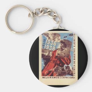 July; 1936-1938; it's necessary_Propaganda Poster Keychain
