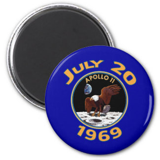 July 20, 1969 Apollo 11 Mission to the Moon 2 Inch Round Magnet