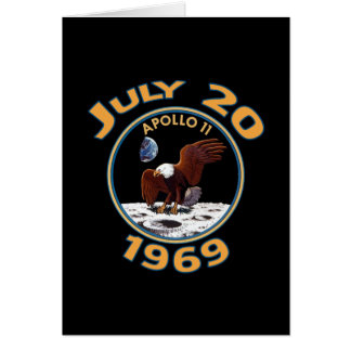 July 20, 1969 Apollo 11 Mission to the Moon Card