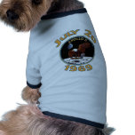 July 20, 1969 Apollo 11 Mission to the Moon Pet T-shirt
