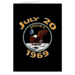 July 20, 1969 Apollo 11 Mission to the Moon Greeting Card