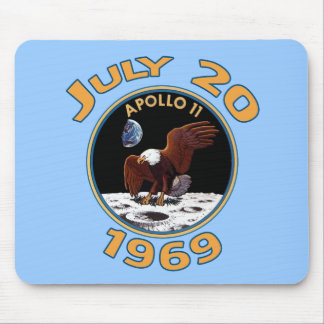 July 20, 1969 Apollo 11 Mission to the Moon Mouse Pad