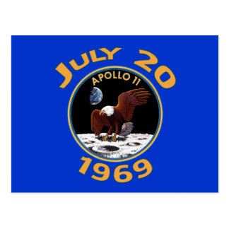 July 20, 1969 Apollo 11 Mission to the Moon Postcard