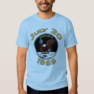 July 20, 1969 Apollo 11 Mission to the Moon Tee Shirts