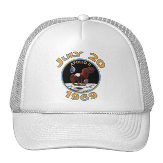 July 20, 1969 Apollo 11 Mission to the Moon Trucker Hat