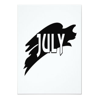 July 3 5x7 paper invitation card