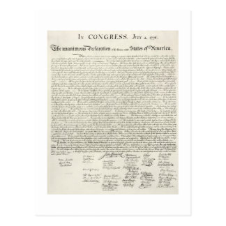 July 4,1776 DECLARATION OF INDEpendence Post Cards