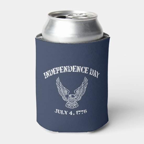 July 4 1776 July 4th Beverage Can Cooler