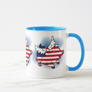July 4 - 4th of July Patriotic Flying Pig(s) Mug