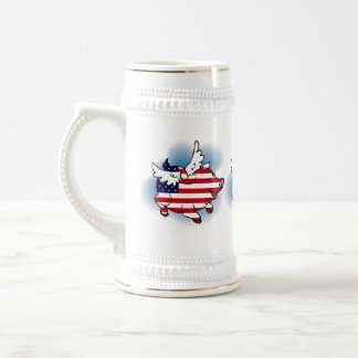 July 4 - 4th of July Patriotic Flying Pig(s) Stein Coffee Mugs