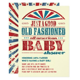 July 4 BBQ Baby Shower Invitation