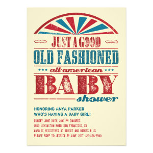 July 4 BBQ Baby Shower Invitation