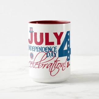 JULY 4 Celebration mug– choose style & color Mug