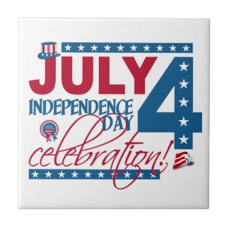 JULY 4 Celebration tile