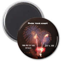 July 4 Fireworks Party Magnet