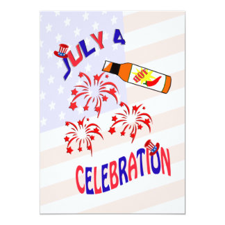 July 4 Hot Sauce Hot Party Invitation