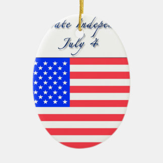 July 4 Independence Day Christmas Tree Ornaments